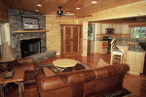 Modern Game Room Ideas Log Cabin Interior Design Kitchen Log Cabin