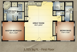 ColumbusVI log cabin floor plan Columbus Log Cabin Floor Plan Offers Amazing Functionality for Families